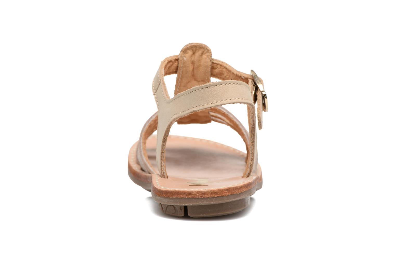 Sandales et nu-pieds Minibel Chana Or et bronze vue droite