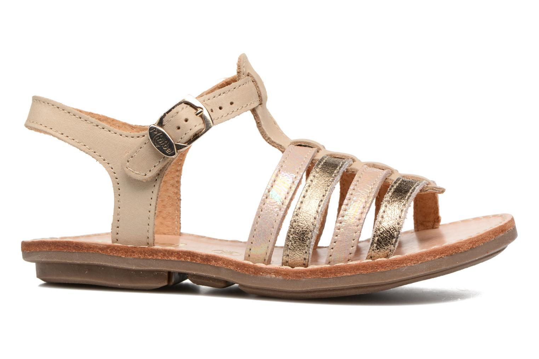 Sandales et nu-pieds Minibel Chana Or et bronze vue derrière