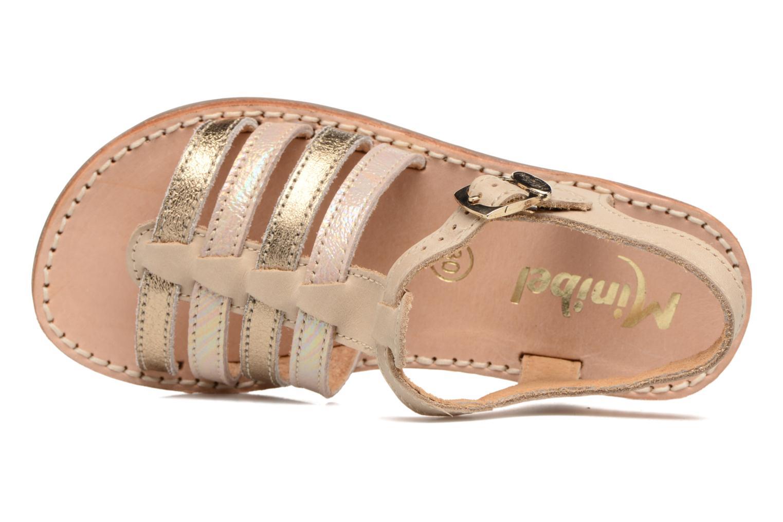 Sandales et nu-pieds Minibel Chana Or et bronze vue gauche