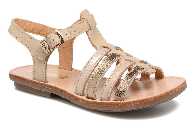 Sandales et nu-pieds Minibel Chana Or et bronze vue détail/paire