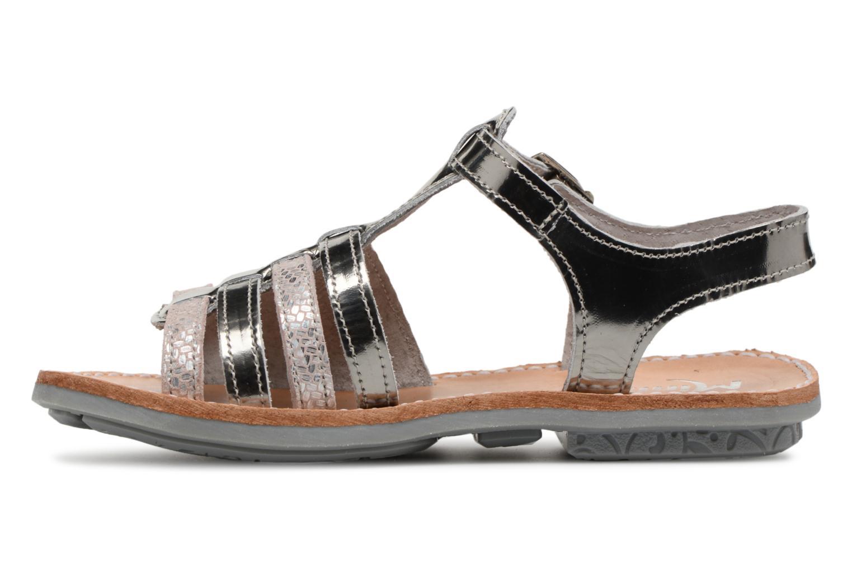 Sandales et nu-pieds Minibel Chana Argent vue face