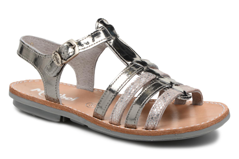 Sandales et nu-pieds Minibel Chana Argent vue détail/paire