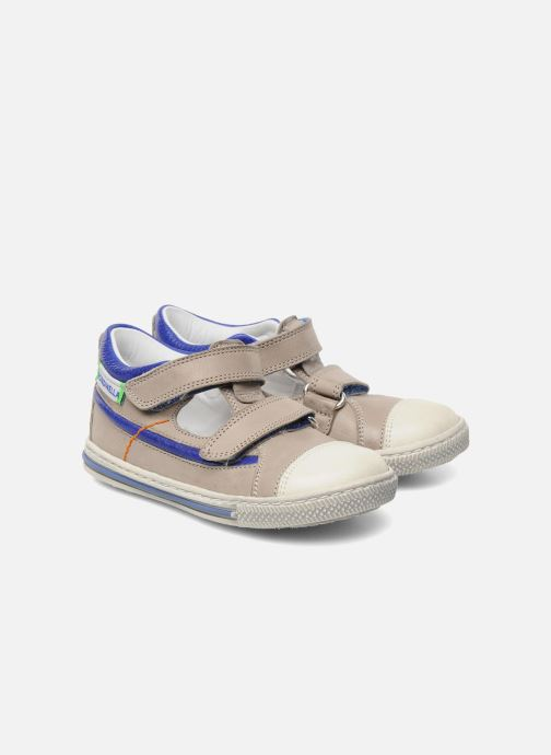 Chaussures à scratch Rondinella Pierrot Gris vue 3/4