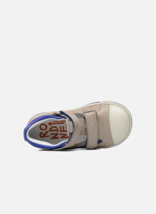 Chaussures à scratch Rondinella Pierrot Gris vue gauche
