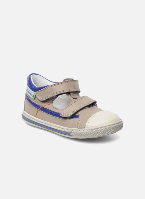 Velcro shoes Rondinella Pierrot Grey detailed view/ Pair view