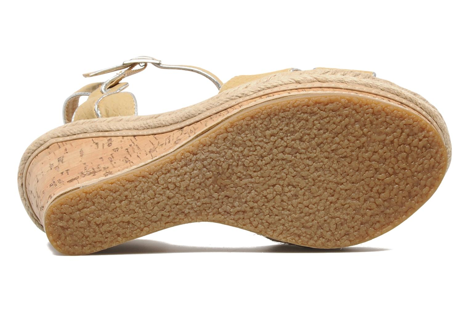 Sandals Latinas Cloti Beige view from above