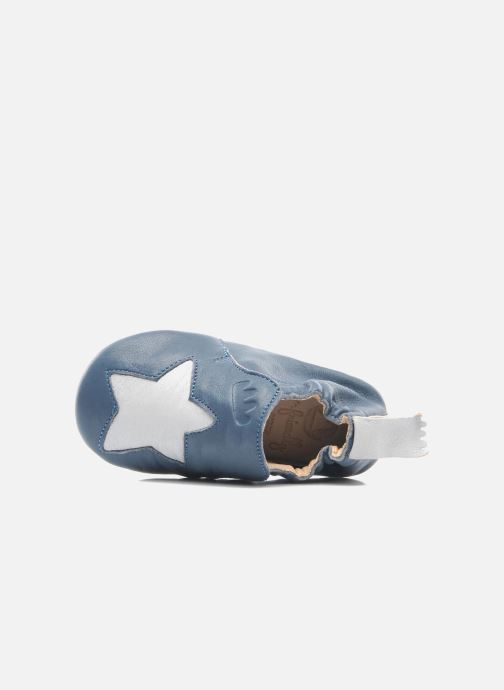 Chaussons Easy Peasy Blublu Patin Etoile Bleu vue gauche
