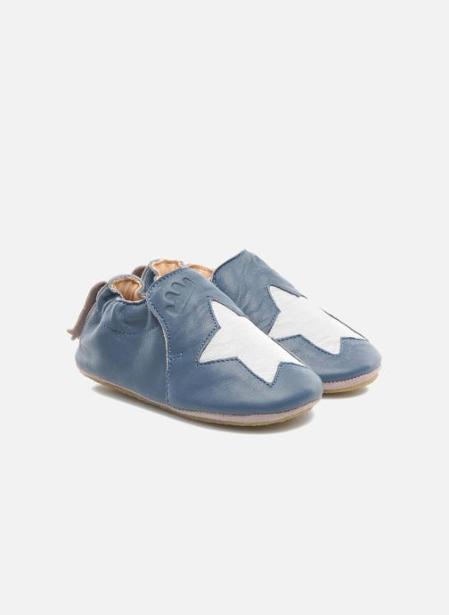 Slippers Easy Peasy Blublu Patin Etoile Blue detailed view/ Pair view