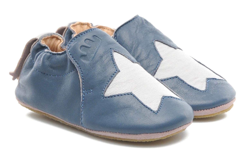 Chaussons Easy Peasy Blublu Patin Etoile Bleu vue détail/paire