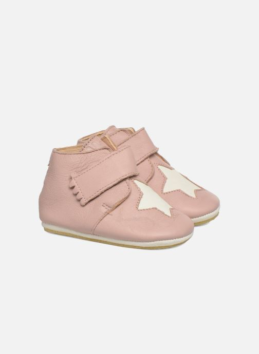 Chaussons Easy Peasy Kiny Patin Etoile Rose vue 3/4