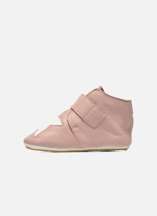 Chaussons Easy Peasy Kiny Patin Etoile Rose vue face