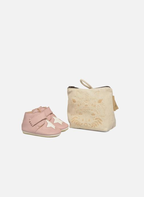 Chaussons Easy Peasy Kiny Patin Etoile Rose vue détail/paire