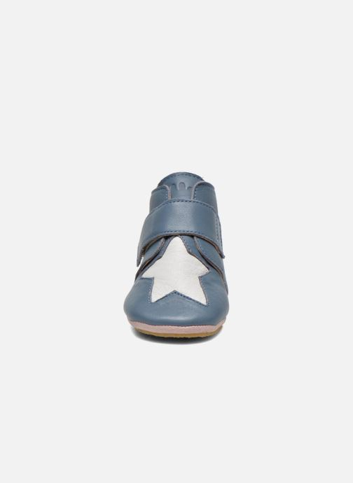 Chaussons Easy Peasy Kiny Patin Etoile Bleu vue portées chaussures