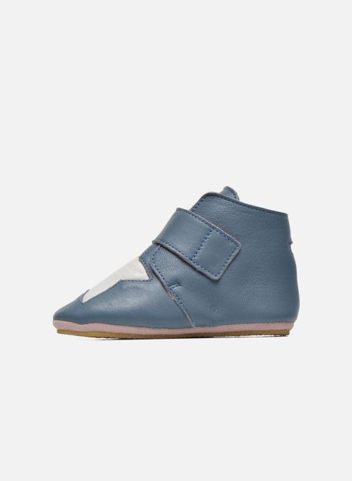 Chaussons Easy Peasy Kiny Patin Etoile Bleu vue face