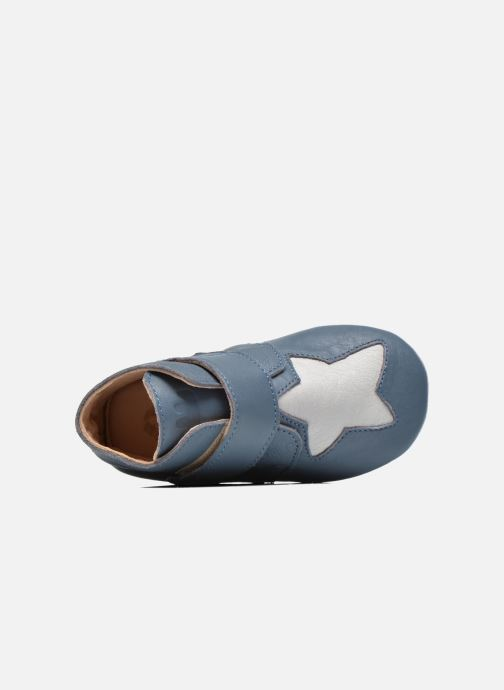 Chaussons Easy Peasy Kiny Patin Etoile Bleu vue gauche