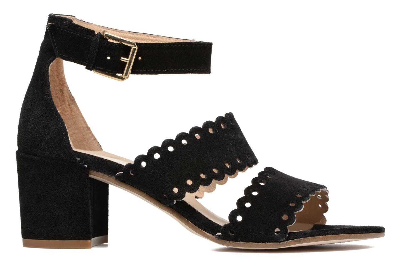 Sandales et nu-pieds Georgia Rose Loupik Noir vue derrière