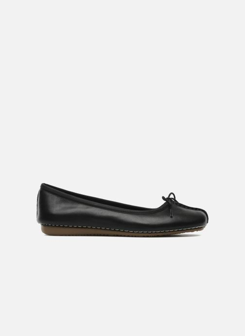 Ballet pumps Clarks Unstructured Freckle Ice Black back view