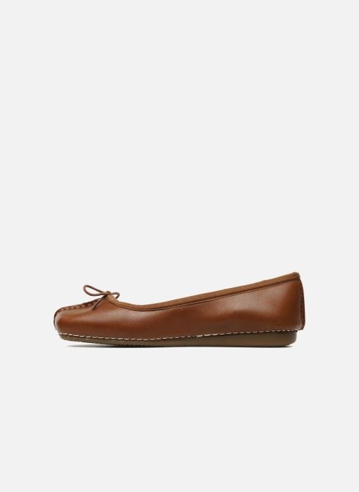 Ballerines Clarks Unstructured Freckle Ice Marron vue face