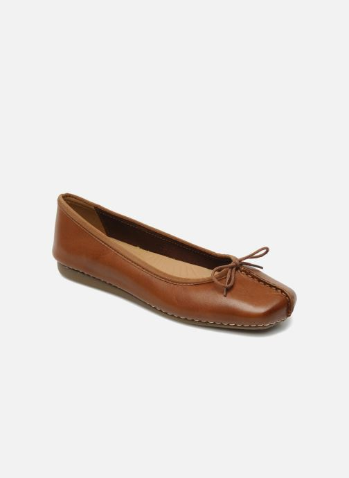 Ballerines Clarks Unstructured Freckle Ice Marron vue détail/paire
