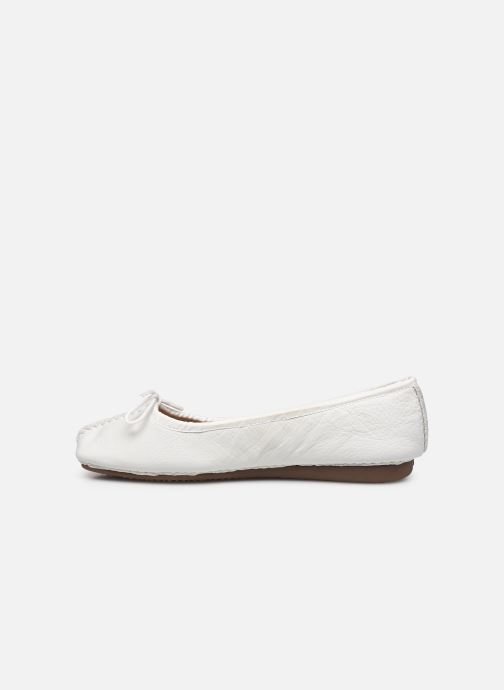 Bailarinas Clarks Unstructured Freckle Ice Blanco vista de frente