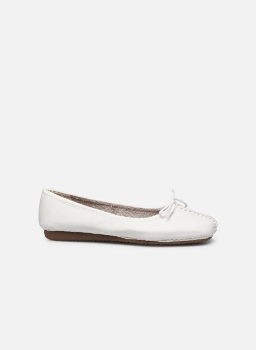 Ballet pumps Clarks Unstructured Freckle Ice White back view