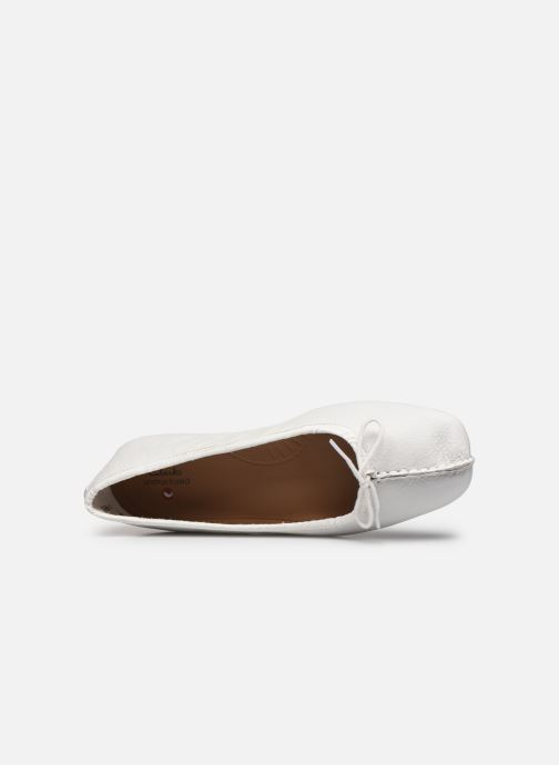 Ballerinas Clarks Unstructured Freckle Ice weiß ansicht von links