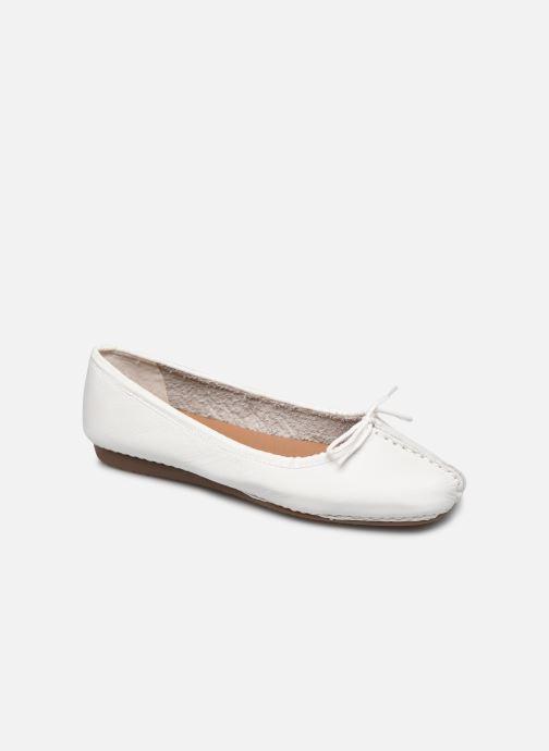 Bailarinas Clarks Unstructured Freckle Ice Blanco vista de detalle / par
