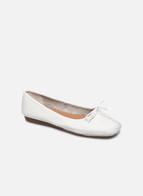 Ballerines Clarks Unstructured Freckle Ice Blanc vue détail/paire