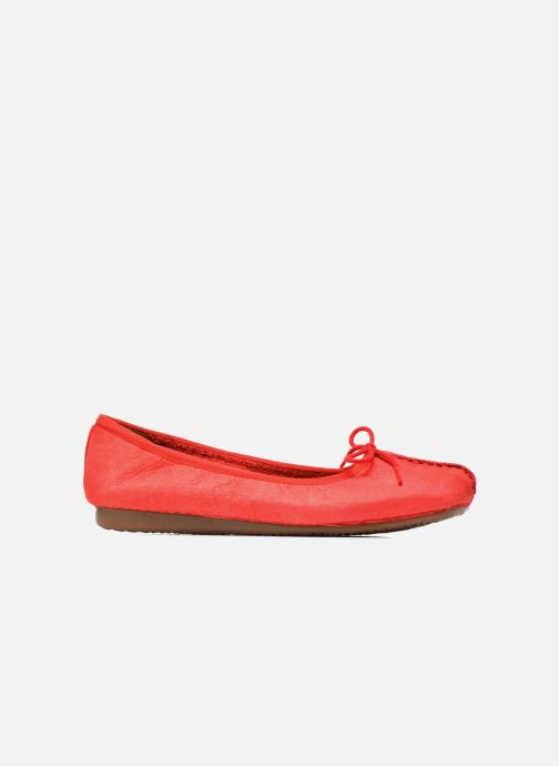 Ballerina's Clarks Unstructured Freckle Ice Rood achterkant