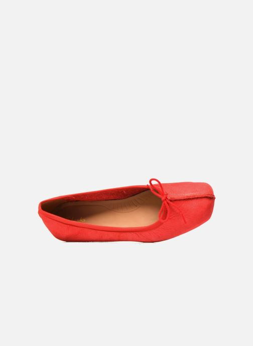 Ballerines Clarks Unstructured Freckle Ice Rouge vue gauche
