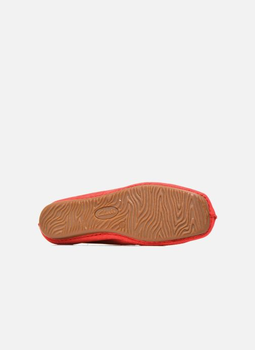 Ballerines Clarks Unstructured Freckle Ice Rouge vue haut