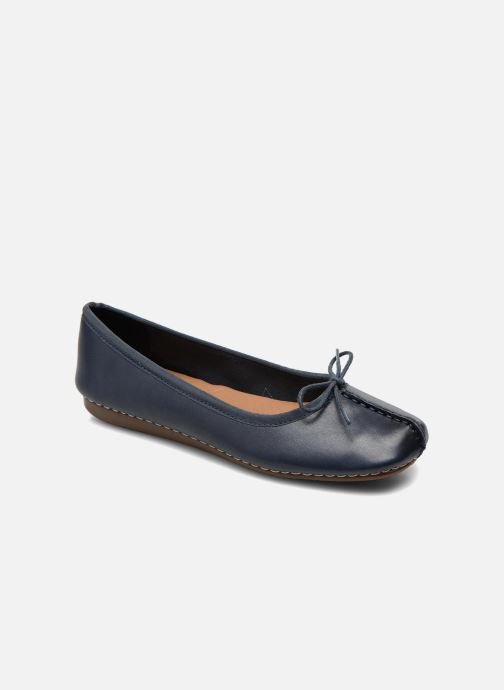 Ballerina's Clarks Unstructured Freckle Ice Blauw detail