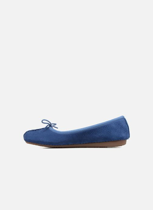 Bailarinas Clarks Unstructured Freckle Ice Azul vista de frente