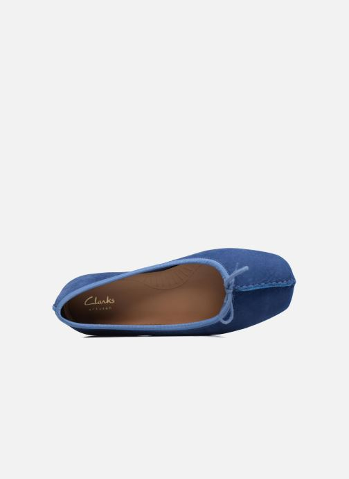 Ballerinas Clarks Unstructured Freckle Ice blau ansicht von links