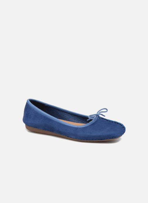 Ballerines Clarks Unstructured Freckle Ice Bleu vue détail/paire