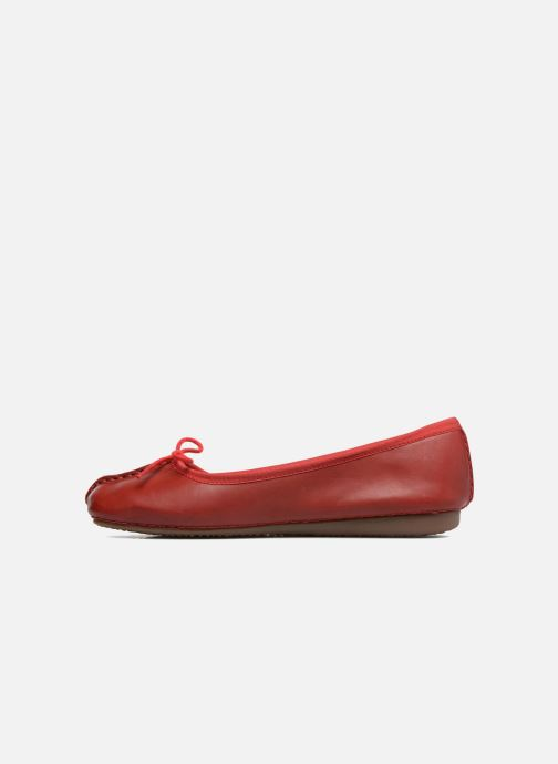 Ballerines Clarks Unstructured Freckle Ice Rouge vue face