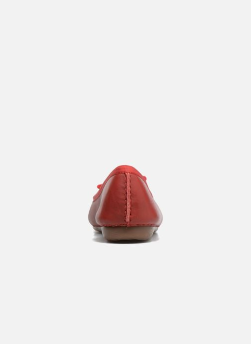 Ballerines Clarks Unstructured Freckle Ice Rouge vue droite