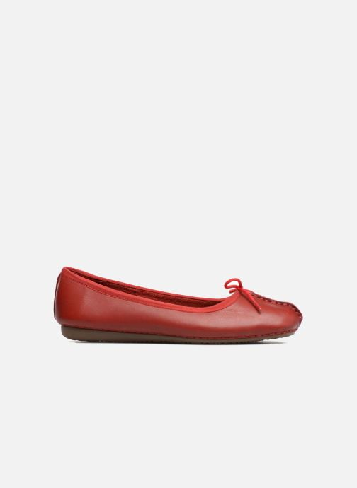 Ballerines Clarks Unstructured Freckle Ice Rouge vue derrière