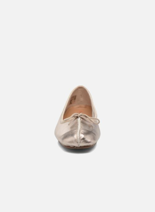 Ballet pumps Clarks Unstructured Freckle Ice Bronze and Gold model view