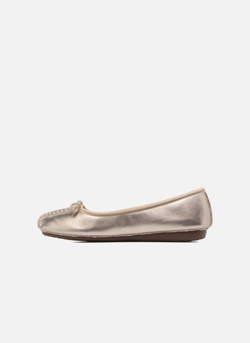 Ballet pumps Clarks Unstructured Freckle Ice Bronze and Gold front view