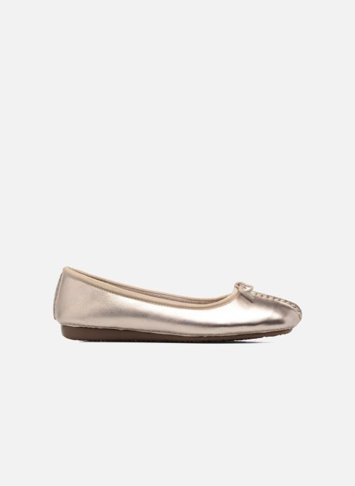Ballet pumps Clarks Unstructured Freckle Ice Bronze and Gold back view