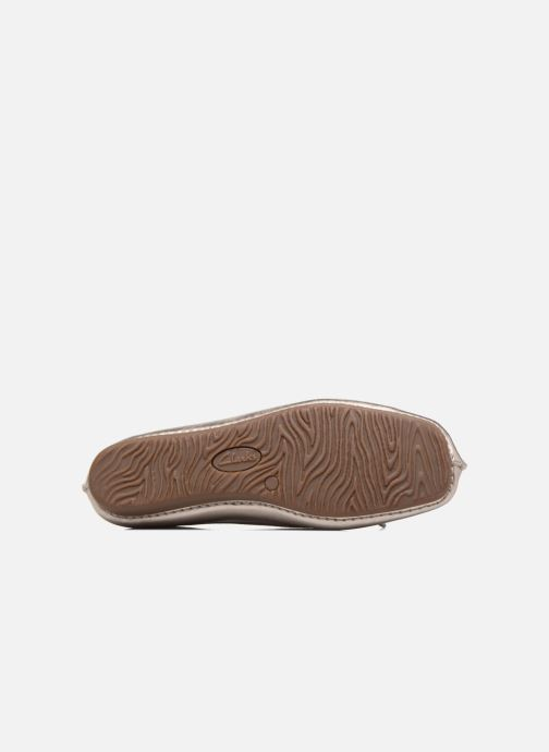 Ballet pumps Clarks Unstructured Freckle Ice Bronze and Gold view from above