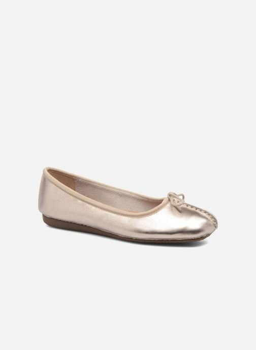 9fea903c2b4 Ballet pumps Clarks Unstructured Freckle Ice Bronze and Gold detailed view   Pair view
