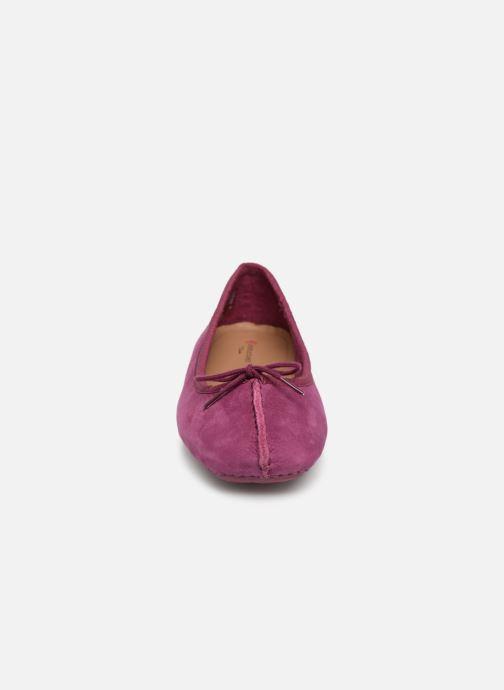 Ballerines Clarks Unstructured Freckle Ice Violet vue portées chaussures