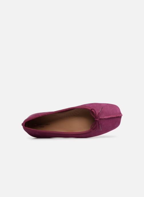 Ballerina's Clarks Unstructured Freckle Ice Paars links