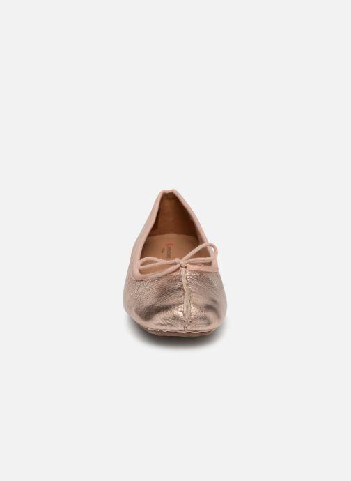 Ballerinas Clarks Unstructured Freckle Ice gold/bronze schuhe getragen