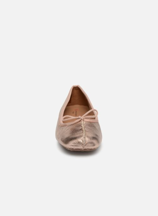 Ballerines Clarks Unstructured Freckle Ice Or et bronze vue portées chaussures
