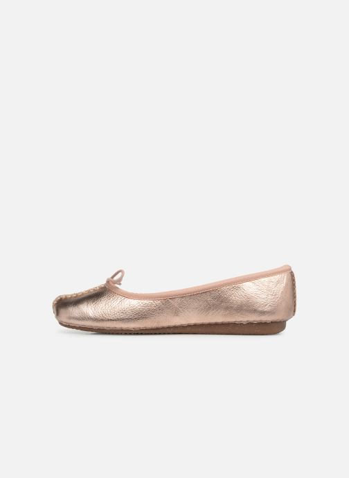 Bailarinas Clarks Unstructured Freckle Ice Oro y bronce vista de frente