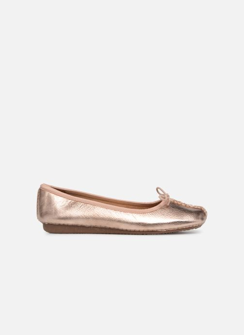 Bailarinas Clarks Unstructured Freckle Ice Oro y bronce vistra trasera