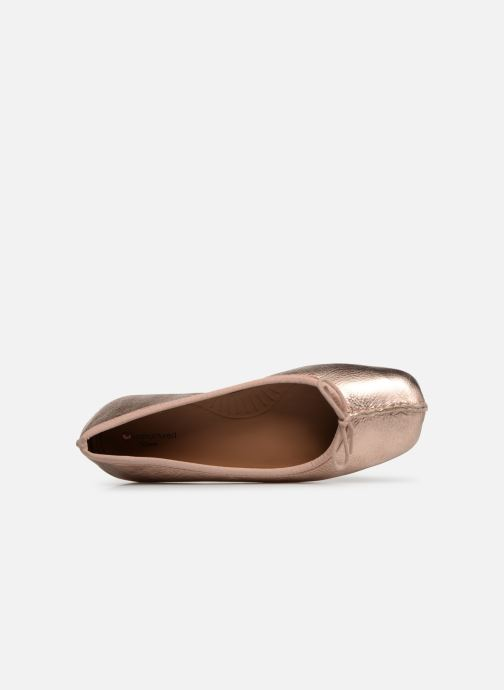 Ballerinas Clarks Unstructured Freckle Ice gold/bronze ansicht von links